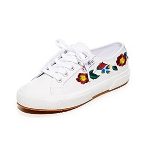 Express SUPERGA LEATHER EMBROIDERY Sneakers